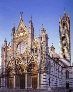 Duomo, Siena , Italy, It poured, raining so I couldn't get a picture of this beautiful cathedral when we were there..