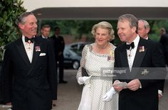 The Queen's Staff Left To Right: Lt. Col. Sir Malcolm Ross - Comptroller The Lord Chamberlain's Office, Duchess Of Grafton, Lady-in-waiting, Sir Robin Janvrin, Private Secretary. Arriving At The Hungarian State Visit Return Banquet,...More June 24, 1999 (1024×673)