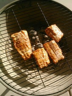 Grilled Salmon with Spicy BBQ Sauce.