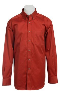 Ariat Mens Long Sleeve Solid Spitfire Shirt 10013439