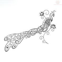 Peacock Tattoo Design--