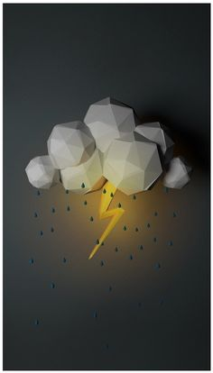 Simplistic cloud and lightning. Retouched after in Photoshop?