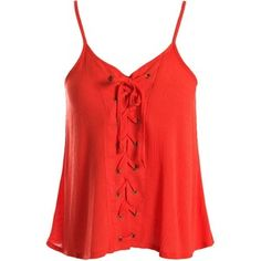 Sans Souci Orange lace up cami top