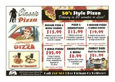 Flyer designed for classic pizza calgary #flyerdesign #addesign #grpahicdesign