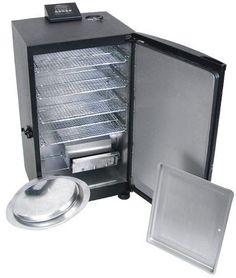 30-Inch Black Electric Digital Smoker, Top Controller Yard Grill