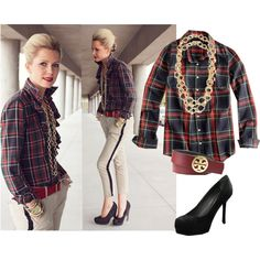 how to dress up a flannel shirt. wow.