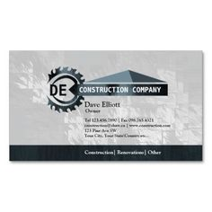 Construction slogans business cards business cards pinterest home construction monogram business cards colourmoves