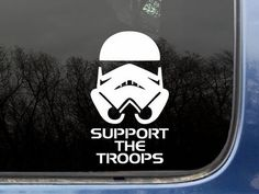 Support the Troops Car Decal