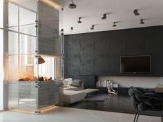 Fireplace room. on Behance