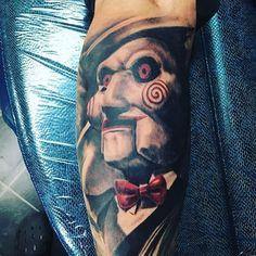 Horror Movie Tattoos, Scary Tattoos, Hot Tattoos, Body Art Tattoos, Tattoos For Guys, Sleeve Tattoos, Tatoos, Dark Art Tattoo, Gothic Tattoo