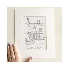 House Illustration, How To Draw Hands, House Drawing, Hand Reference