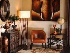 Take a walk on the wild side with this unique collection of animal prints, bamboo accessories, and tribal vases. These items will turn any room into an in-house safari!