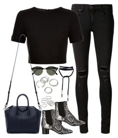 """""""Untitled#4373"""" by fashionnfacts ❤ liked on Polyvore featuring rag & bone/JEAN, Ted Baker, Isabel Marant, Givenchy, Ray-Ban, Forever 21 and Apt. 9"""