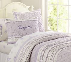 Brigette Ruffle Quilted Bedding | Pottery Barn Kids