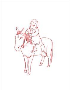Carson Ellis - Child With Horse #1 Silkscreen Print