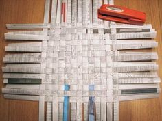 basketweaving with newspaper or magazines...I can never have too many baskets to put doodads in