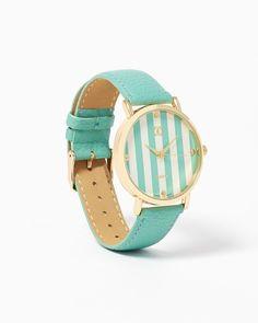 Studs & Stripes Watch #CharmingCharlie #MintCondition #CCStyle #ColorMeFabulous