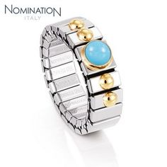 Bague Nomination Collection Extension avec Turquoise