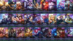 Mobile Legends All Epic Skins Heroes Wallpaper, Mobile Legend Wallpaper, Alucard Mobile Legends, Skin Wars, Android Mobile Games, Episode Choose Your Story, Cheat Online, Legend Games, Play Hacks