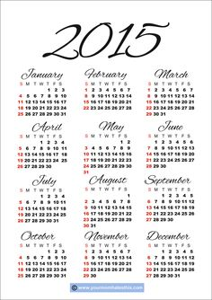 free 2015 calendar 1 free printable daily weekly monthly