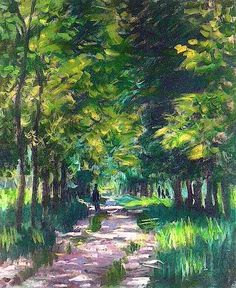 1878, Claude Monet / Wood lane,sunlight effect