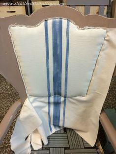 Como tapizar un respaldo de silla. Paso a paso como se hace y materiales.