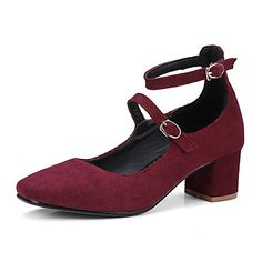 34.99  Women s Shoes Leatherette Summer Fall Comfort Light Soles Heels  Chunky Heel Square Toe Closed Toe Buckle for Dress Office   Career Black 652d19f849346