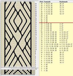 """""""Puño"""" 30 tarjetas, 2 colores, repite cada 24 movimientos // sed_963 diseñado en GTT༺❁"""