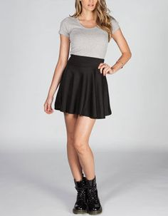 Tilly's Black Skater Skirt