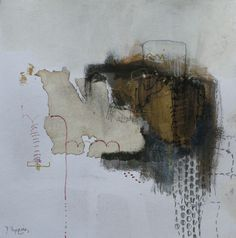 Diana Tapping - Oystermouth Revisited - Collage with Ink / 38cm x 38cm