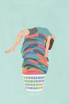 Modern day Princess and the pea. Laundry Art, Funny Illustration, Cute Wallpaper Backgrounds, Cute Wallpapers, What's My Favorite Color, Positive Art, Princess And The Pea, Tattoo Flash Art, Feminist Art
