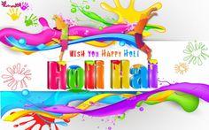 Happy Holi Wish you HD Wide Wallpapers 1920x1200