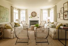 Pure Style Home: Client's Family Room Before & After