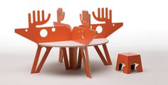 Reindeer kids table! | Unique Kids Table Design- Zoo by Mouna and Silvio Russo