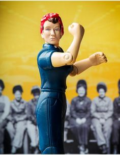 Rosie The Riveter Action Figure from AlwaysFits.com