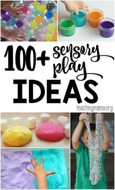 A huge list of fun and hands-on sensory play ideas. These ideas are easy to do and help children learn through play.