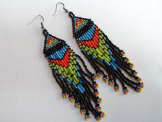 Native American Earrings.  Beaded Earrings.  by BeetledeeBeading, £12.00