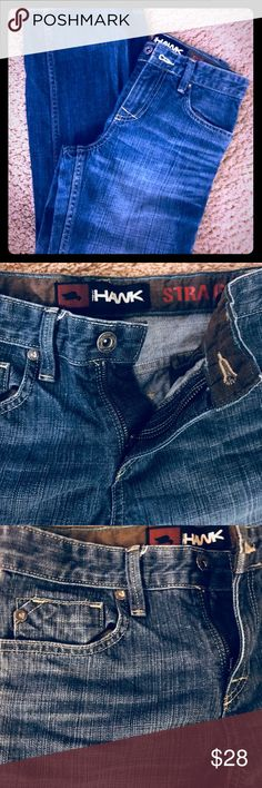 Tony Hawk straight jeans. Boys/10 reg These were never even worn.  Tony Hawk jeans with an adjustable waist. Perfect condition. Size 10 regular. 24 inch inseam 32 inch length  12 inch waist, straight across (not adjusted) Tony Hawk Bottoms Jeans