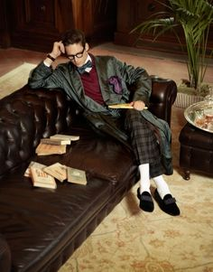 Near inseparable, photographer Blair Getz Mezibov and stylist Christopher Campbell come together for the September issue of Robb Report. Drew Van Acker, English Gentleman, Mens Sleepwear, Preppy Mens Fashion, King And Country, Renaissance Men, Men Photography, Billionaire Boys Club, English Men