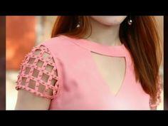 Diy Latest Sleeve Design for Churidar Kurti Sleeves Design, Sleeves Designs For Dresses, Neck Designs For Suits, Kurta Neck Design, Neckline Designs, Blouse Neck Designs, Sleeve Designs, Latest Dress Design, Stylish Blouse Design