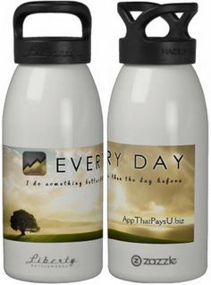 EVERY DAY I do something better than the day before. #Travel #WaterJug http://www.AppThatPaysU.biz