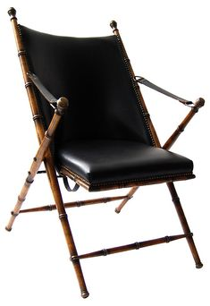 One Kings Lane - VMF - Furniture - Campaign-Style Chair