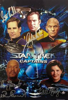 Star Trek Captains - Yes there ARE other versions of Star Trek out there, you know. Archer, Kirk, Picard. Sisko and Janeway.