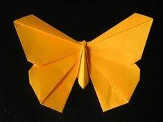 COMO FAZER ORIGAMI DE BORBOLETA PASSO A PASSO Instruções Origami, Origami Paper Folding, Cute Origami, Origami Butterfly, Origami Ideas, Origami Design, Paper Art, Paper Crafts, Diy Crafts