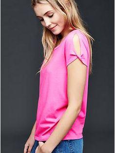 Twist short sleeve top | Gap
