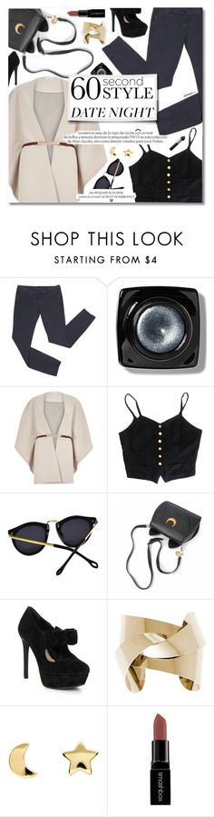 """Last Minute Date"" by talukder ❤ liked on Polyvore featuring Bobbi Brown Cosmetics, River Island, Louis Vuitton, Gianni Bini, Erica Weiner, Smashbox, By Terry, women's clothing, women and female"