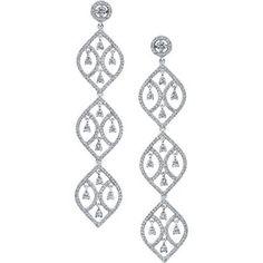 We Love diamond chandelier earrings!