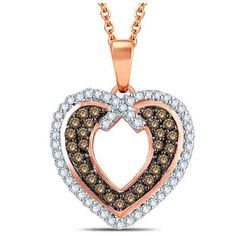 CARATS FOR YOU 10K Solid Gold 0.12ct Genuine Real Round Cut Natural Diamond Seahorse Pendant Necklace For Women