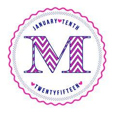 Pink chevron Bat Mitzvah logo.                                                                                                                                                                                 More