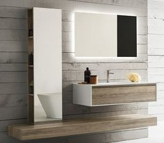 Mobile bagno 180 cm legno Badia stile scandinavo
